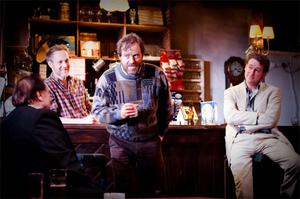 Peter McDonald, Ardal O'Hanlon, Risteard Cooper in Conor McPherson's 'The Weir' at the Donmar Warehouse in London