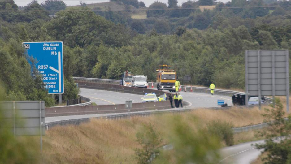 The scene of the fatal crash on the M6 (Photo: Press 22)