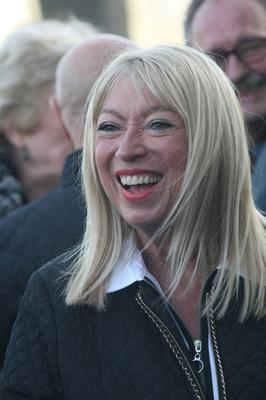 Anne Doyle at the funeral of Jim McCann