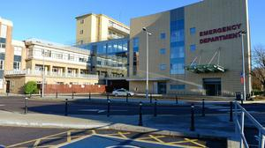 The Emergency Department at Our Lady of Lourdes Hospital, Drogheda, remains open despite the HSE cyber attack. Photo: Ciara Wilkinson