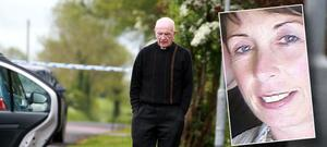A priest at the scene of the tragedy in Maguiresbridge, Co Fermanagh Inset: Concepta Leonard