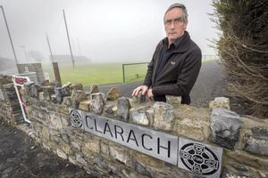 Clara Parish Priest Fr Larry O'Keeffe pictured at the grounds of Clara GAA club yesterday. Picture: Dylan Vaughan