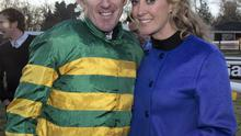 AP McCoy and wife Chanelle celebrating his Hennessy Gold Cup win. Photo: Fergal Phillips.