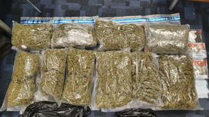 The cannabis was found during a search of a van last night. Photo: Garda Info.