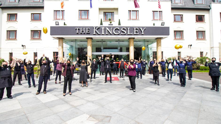 Staff at the Kingsley in Cork prepare to welcome guests again