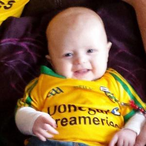 Little Caolan was diagnosed at just 10-weeks-old