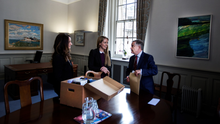 Moving on: Brendan Howlin on his last day in office at the department of Public Expenditure and Reform Photo: David Conachy