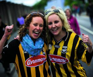 Kathryn and Ellen Nolan from Kilkenny pictured at the Kilkenny V Tipperary match at Nowlan Park in Kilkenny.