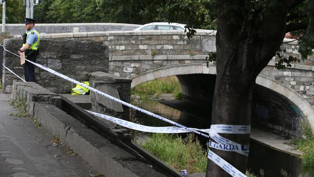 Garda at the Grand Canal in Dolphin's Barn. Photo: Stephen Collins / Collins Photos