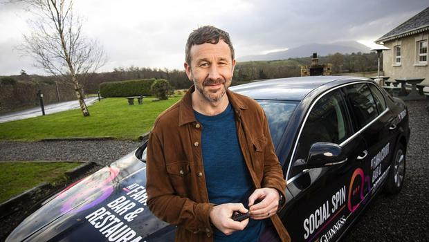 Much-needed lift: Social Spin, a new community transport initiative led by a group of Kerry publicans, got a boost when a video of Chris O'Dowd driving customers home from the pub went viral