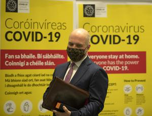 Dr Tony Holohan at a Covid-19 update press conference at the Department of Health yesterday. Photo: Colin Keegan/ Collins