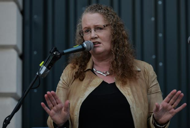 Dolores Cahill at an anti-lockdown rally in Dublin. Picture by Artur Widak/NurPhoto via Getty Images