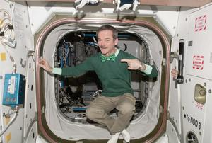 Cmdr Chris Hadfield representing Ireland in space