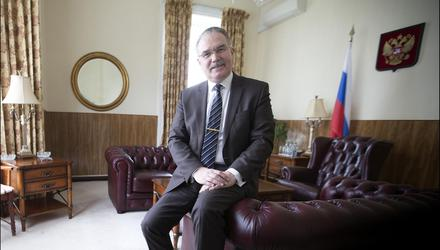 """Russian ambassadorYuriy Filatov said.it was """"Russiaphobic"""" to assume there is a """"special relationship"""" betweenRussian authorities and the HSE hackers.Picture by David Conachy"""