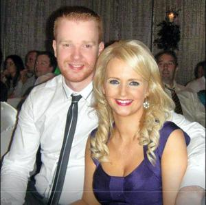 Garda Brian Hanrahan with his wife Emma