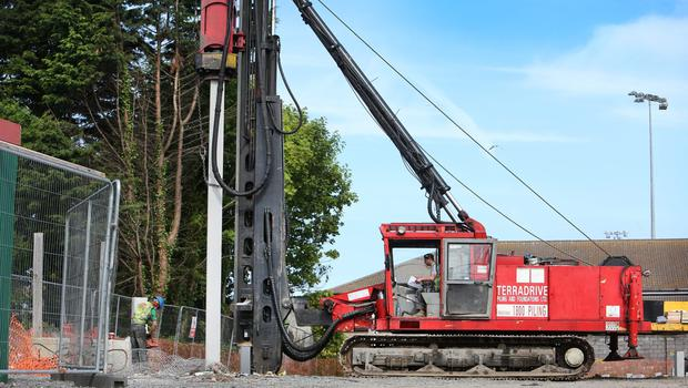 Construction has begun on the site of a primary care centre in Balbriggan, north Co Dublin. Photo: Steve Humphreys