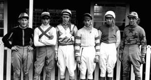 Dessie Hughes pictured as a young jockey, second from left.