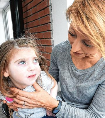 Anxious: Tracy Carroll and her daughter Willow. PHOTO: SEAMUS FARRELLY