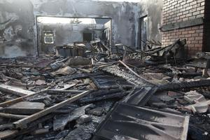 Strong winds meant the Dunmore East clubhouse burned rapidly after a fire broke out last night
