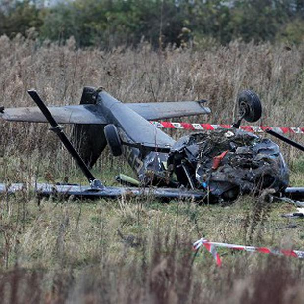 Two men died when the Cessna 150H came down in scrubland near Birr airfield in Co Offaly
