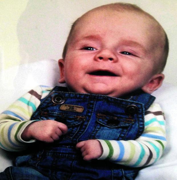 Vakaris Martinaitis, who would have turned two this weekend, died after falling from a window at his family's home