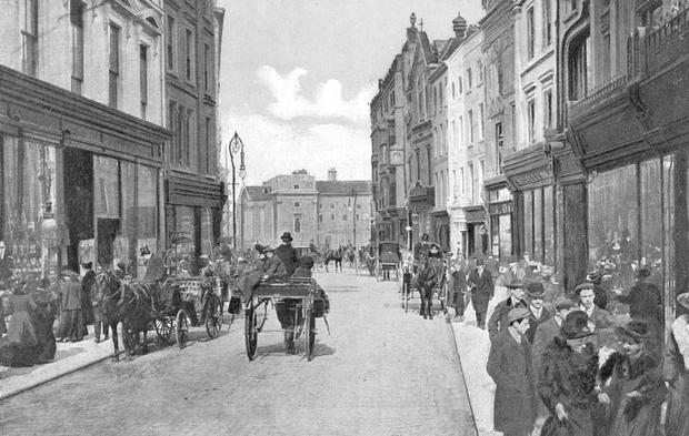 A postcard from the era shows Grafton Street.