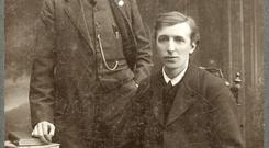 Bulmer Hobson (seated) with Padraig Ó Riain. Photograph courtesy of the National Library of Ireland