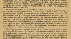 The Proclamation of the Irish Republic.
