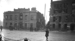 After: Liberty Hall in the aftermath of the insurrection.