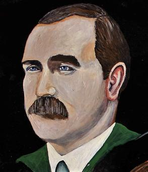 Artist Brian O'Neill's painting of James Connolly.