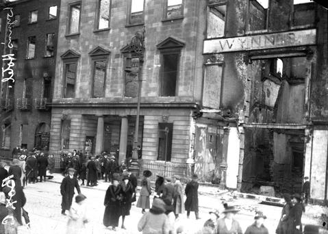 Wynn's Hotel, Abbey Street, Dublin in the aftermath of the Rising.