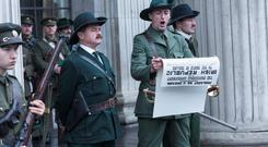 Marcus Lamb as Patrick Pearse in the RTÉ drama 'Rebellion'.