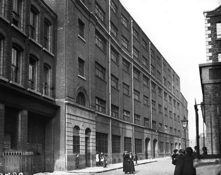 Jacob's Biscuit factory, Dublin at the time of the Easter Rising 1916
