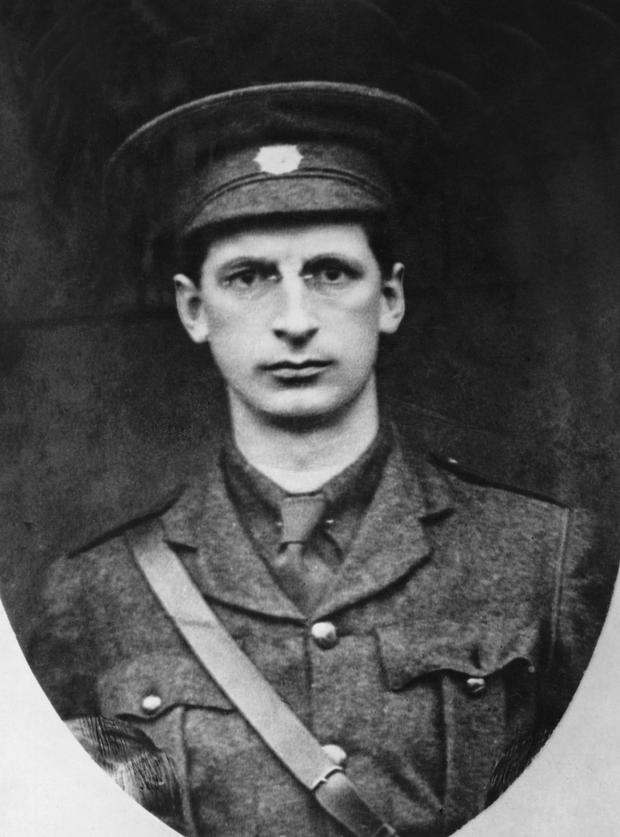 Soldiering on: De Valera in his Volunteers uniform pictured around 1914