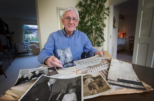 Barry Linnane, the grand-nephew of Irish Independent reporter Maurice Linnane, who reported from the frontline during the Rising. Photo: Colin O'Riordan.