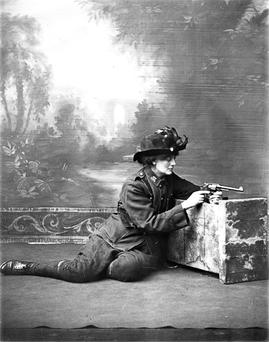A style revolution: Constance Markievicz poses in her rebel attire.