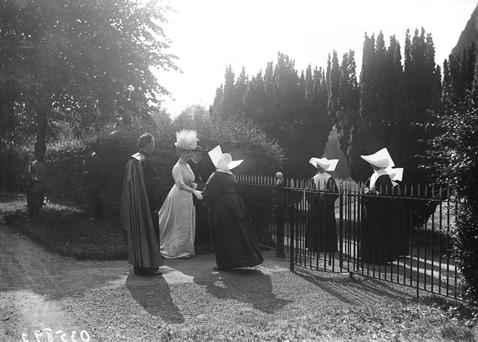 Queen Mary meets the nuns at Maynooth College in Kildare during a visit in July 1911. Photo: Getty Images