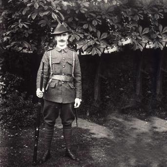 Ready for action: The O'Rahilly in his Irish Volunteers uniform