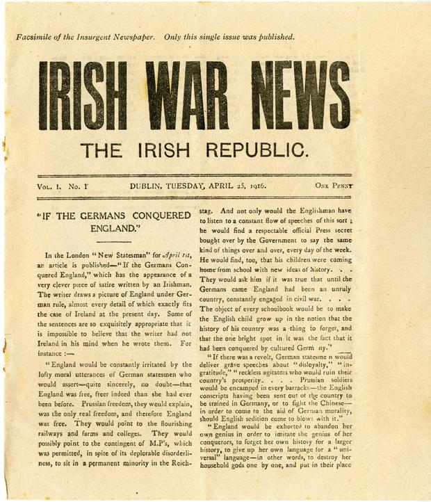 Patrick Pearse envisaged the 'Irish War News' as a good way to get the message of the rebellion out to the greater public. Credit: UCD Archives