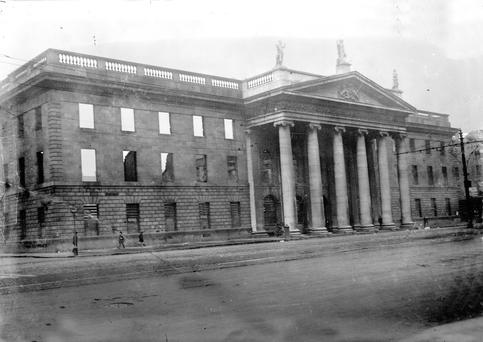 Battered: The GPO in the aftermath of the Rising.