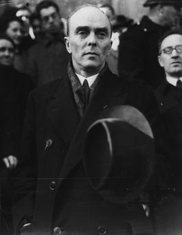 Sean MacBride, former Chief of staff of the Irish Republican Army and founder of Clann na Poblachta
