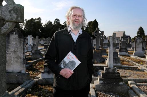 Justice: Historian Ray Bateson pictured at Deansgrange cemetery. Photo: Frank Mc Grath