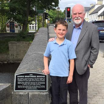 Bridging the gap: Seamus Gavin and his grandson Christopher.