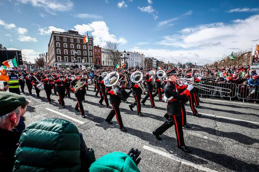 Easter Rising Centenary Celebrations on O Connell Street Bridge. Picture Conor McCabe Photography.