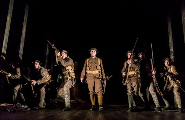 A scene from a new production of Frank McGuinness's Observe the Sons of Ulster Marching Toward the Somme, part of the Abbey's centenary programme. Johan Persson