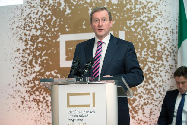 An Taoiseach Enda Kenny speaks at the launch of the Creative Ireland Programme 2017-2022 in The National Gallery.