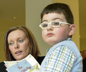 Liam with his mother Mary Heffernan.