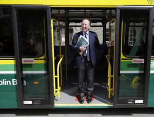 Controls: Transport Minister Shane Ross wants to make face masks mandatory on public transport. Picture: Damien Eagers