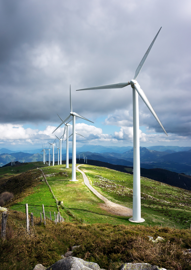 'Wind farms have become increasingly attractive to pension funds seeking higher yields in the current low-interest rate environment.' (stock photo)