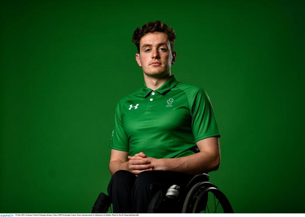 Swimmer Patrick Flanagan during a Tokyo 2020 Paralympic Games Team Announcement at Abbotstown in Dublin. (Photo by David Fitzgerald/Sportsfile)